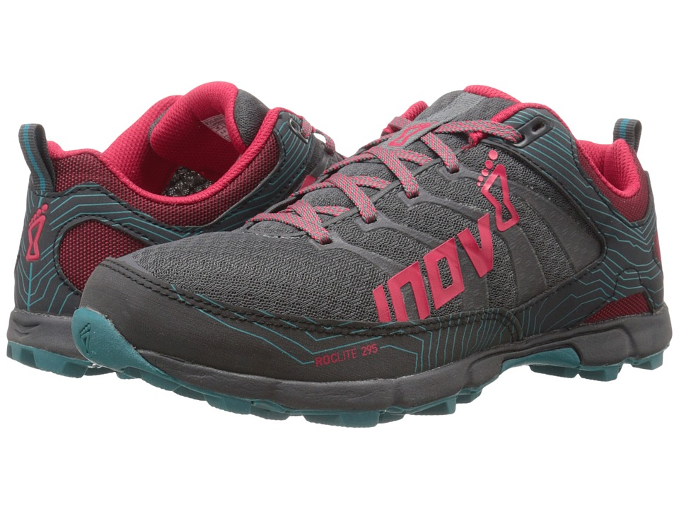 inov-8 - Roclite 295 (Grey/Berry/Teal) Women's Running Shoes