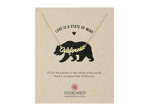 Dogeared - Love Is A State Of Mind Script Necklace (Gold Dipped) Necklace