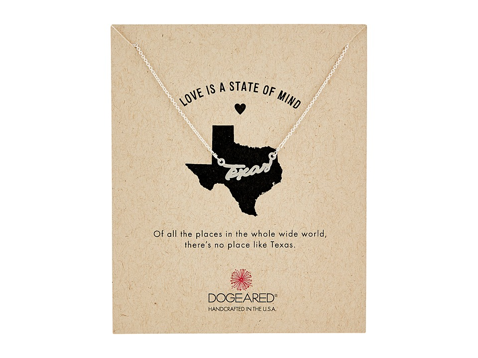 Dogeared - Love Is A State Of Mind Script Necklace (Sterling Silver 2) Necklace