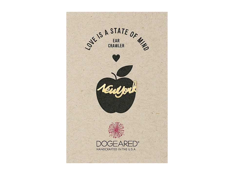Dogeared - Love Is A State Of Mind Ear Crawler (Gold Dipped) Earring
