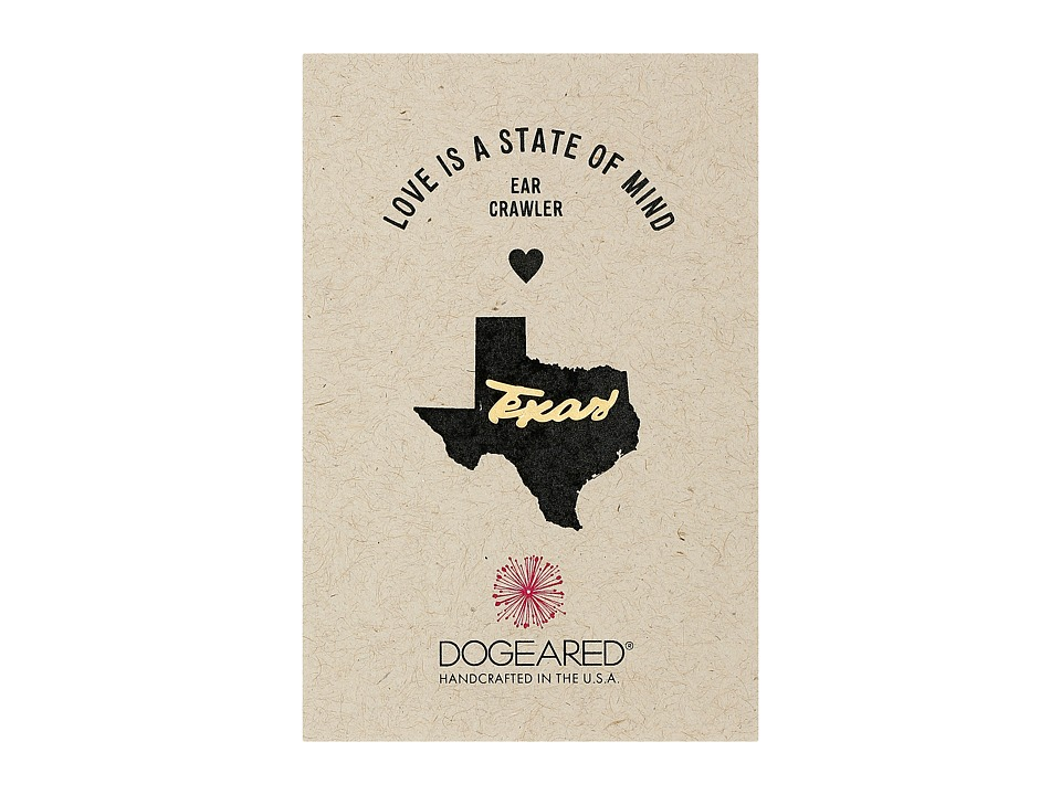 Dogeared - Love Is A State Of Mind Ear Crawler (Gold Dipped 2) Earring