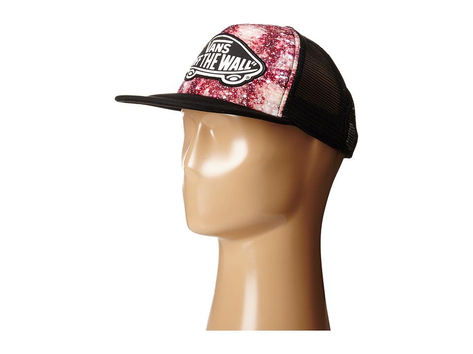 Vans - Beach Girl Trucker Hat (Black/Coral) Caps