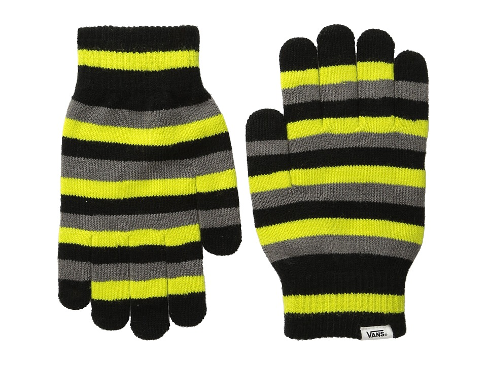 Vans - Happy Hands Gloves (Black/Sulpher) Extreme Cold Weather Gloves