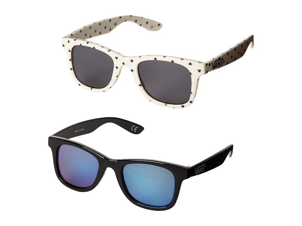 Vans - Janelle Hipster Two-Pack Sunglasses (Classic White/Black) Fashion Sunglasses