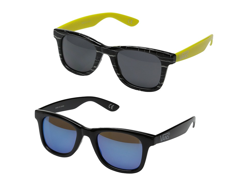 Vans - Janelle Hipster Two-Pack Sunglasses (Black/Sulpher Springs) Fashion Sunglasses