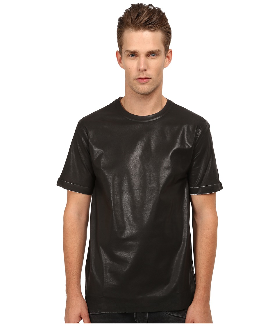 Pierre Balmain - Leather Style T-Shirt (Black) Men