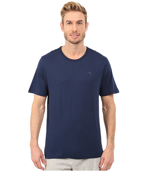 Tommy Bahama - Solid Basic Short Sleeve T-Shirt (Navy) Men's T Shirt