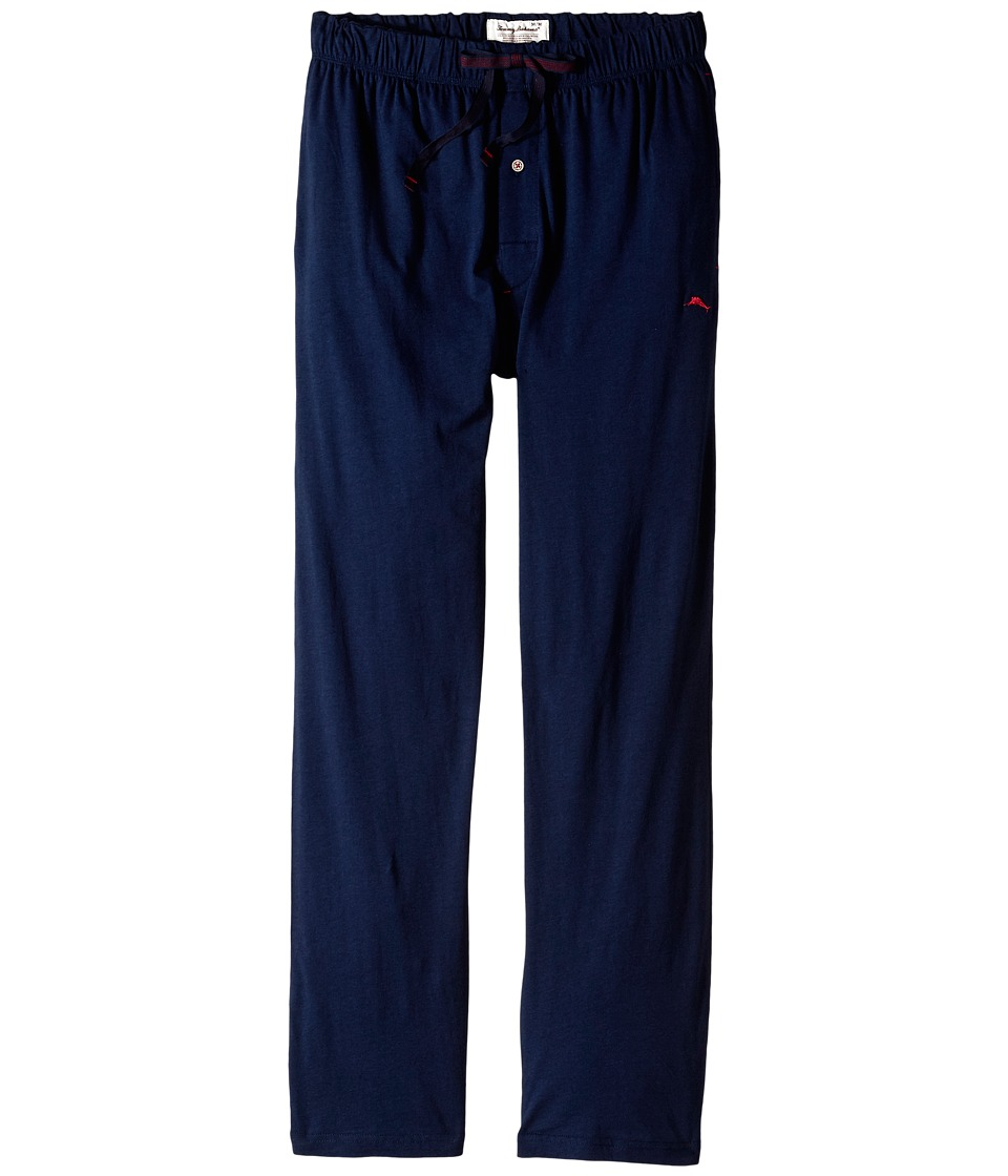 Tommy Bahama - Solid Cotton Modal Jersey Knit Pants (Navy) Men's Pajama