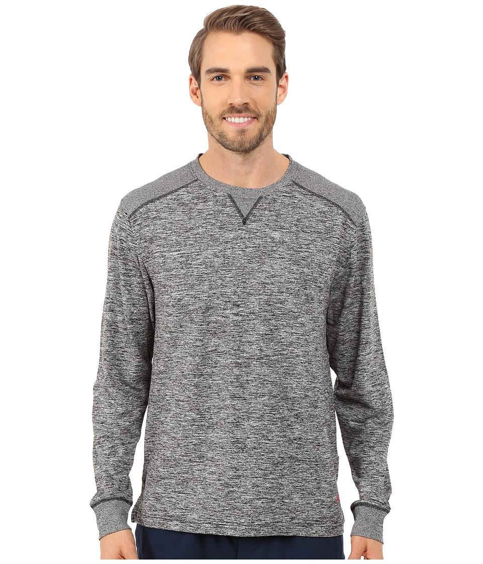 Tommy Bahama - Sueded Melange Jersey Long Sleeve Pullover (Black) Men's Long Sleeve Pullover
