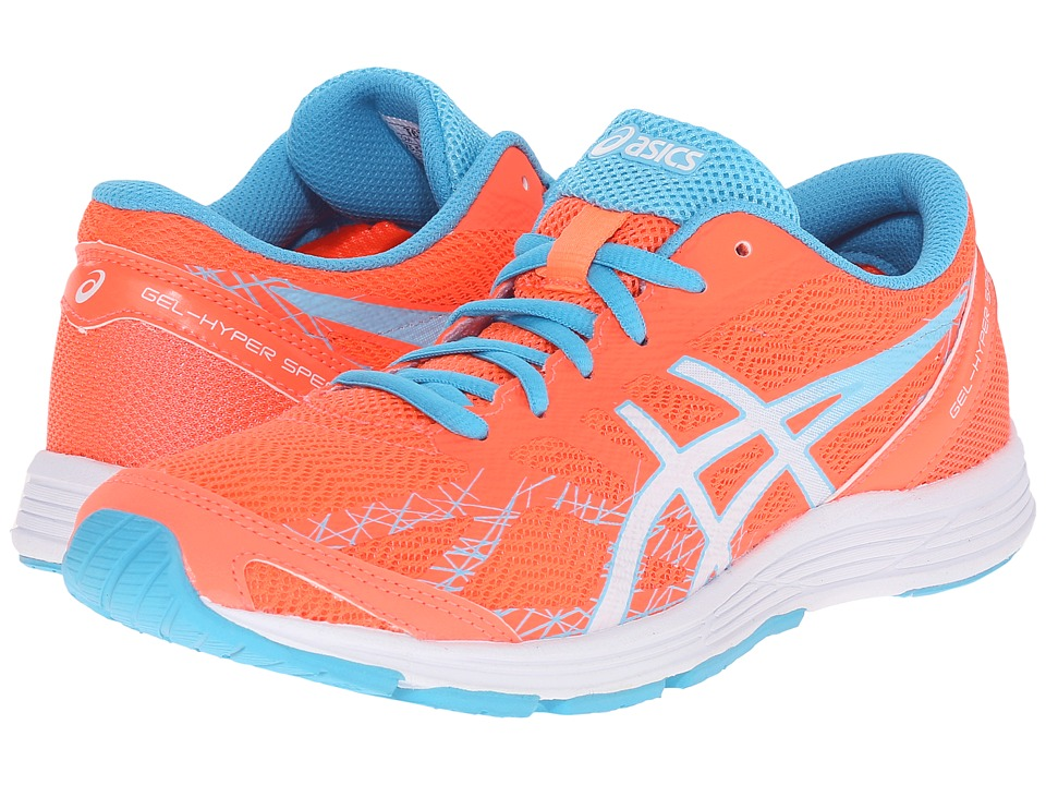 ASICS - GEL-Hyper Speed 7 (Flash Coral/White/Turquoise) Women's Running Shoes