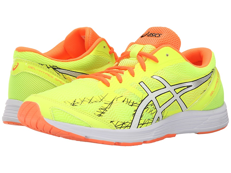 ASICS - GEL-Hyper Speed 7 (Flash Yellow/Black/Hot Orange) Men's Running Shoes
