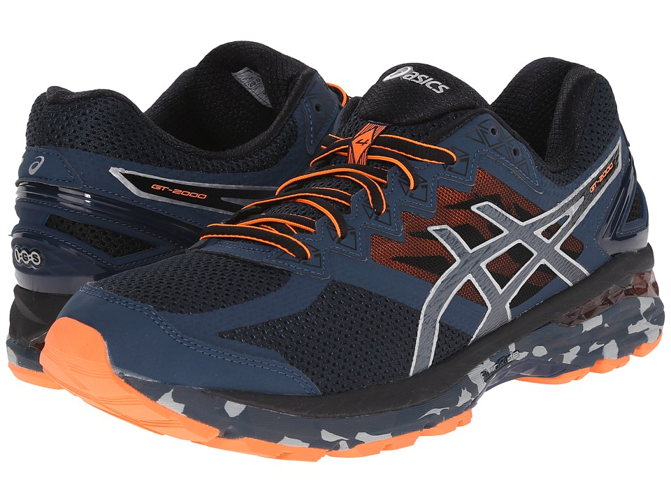 ASICS - GT-2000 4 Trail (Mediterranean/Dark Slate/Hot Orange) Men's Running Shoes