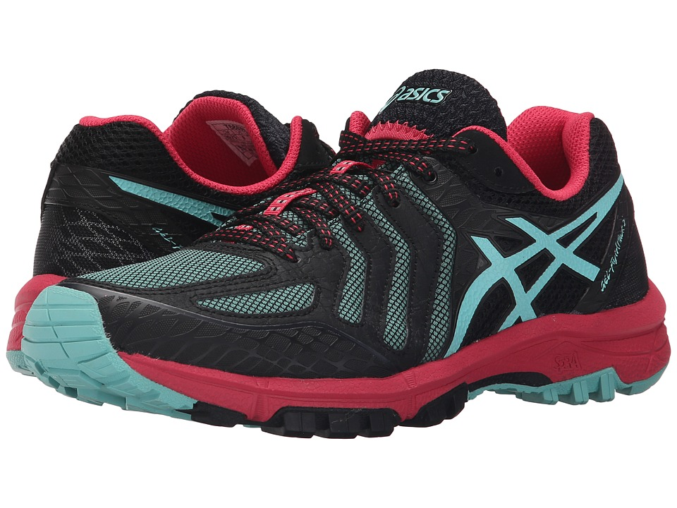 ASICS - GEL-FujiAttack 5 (Black/Pool Blue/Azalea) Women's Running Shoes