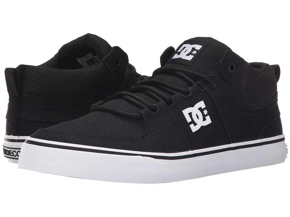 DC - Lynx Vulc Mid TX (Black/White) Skate Shoes
