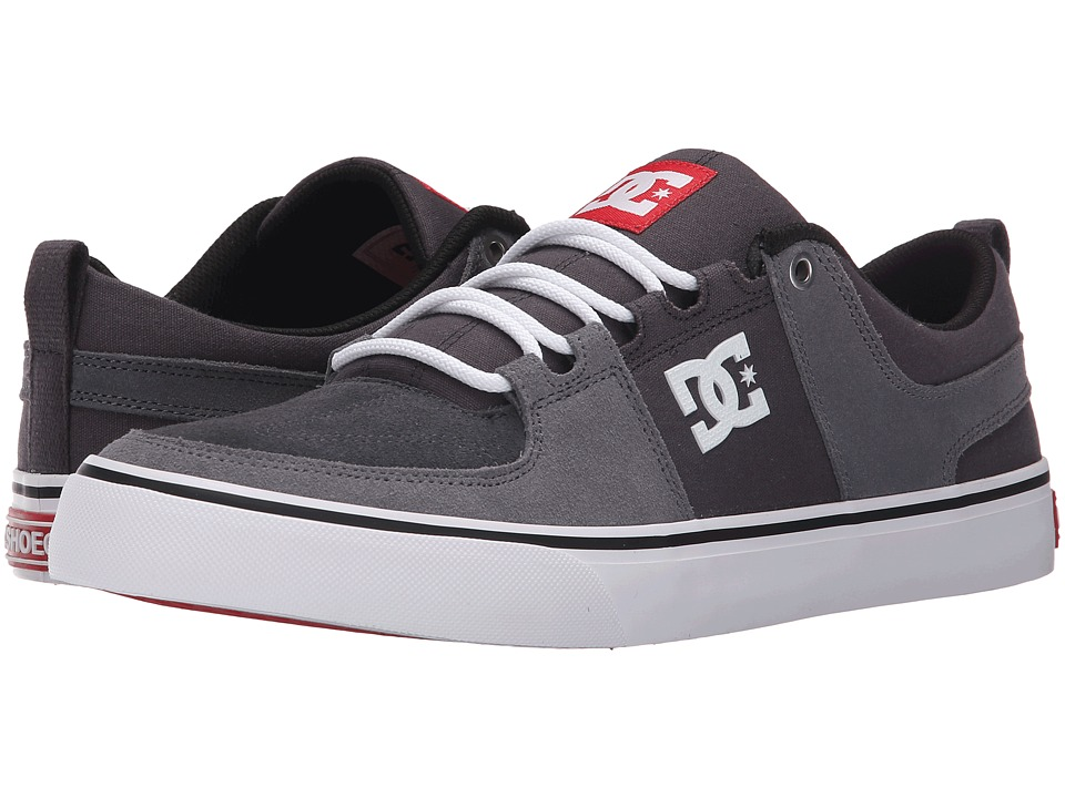 DC - Lynx Vulc (Grey/Grey/Red) Skate Shoes