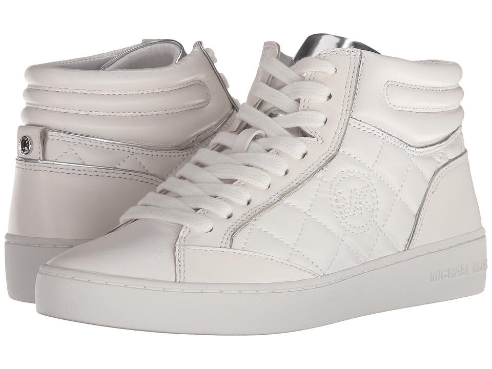 MICHAEL Michael Kors - Paige Quilted High Top (Optic White) Women's Lace up casual Shoes