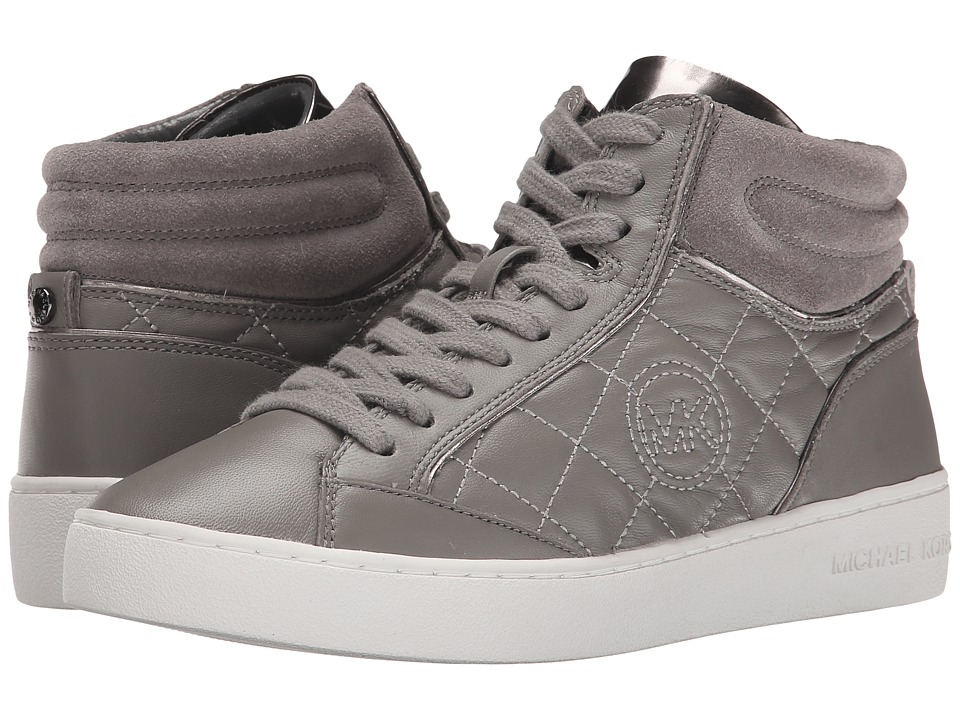 MICHAEL Michael Kors - Paige Quilted High Top (Steel Grey) Women