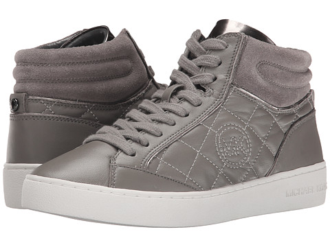 MICHAEL Michael Kors - Paige Quilted High Top (Steel Grey) Women's Lace up casual Shoes