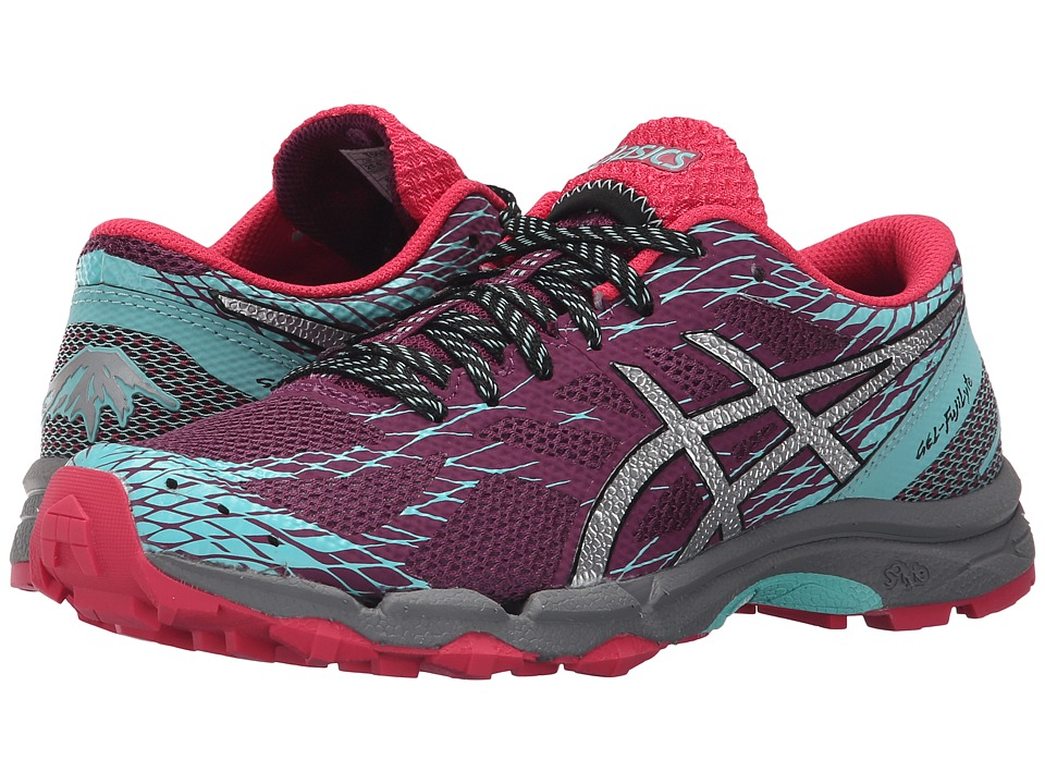 ASICS - GEL-FujiLyte (Plum/Silver/Pool Blue) Women's Running Shoes