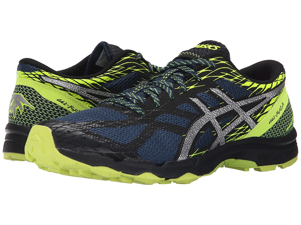 ASICS - GEL-FujiLytetm (Mediterranean/Silver/Flash Yellow) Men's Running Shoes