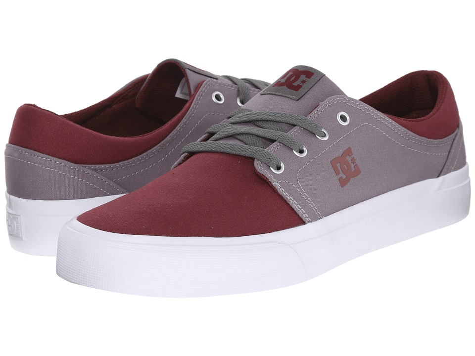 DC - Trase TX (Oxblood/Light Grey) Skate Shoes