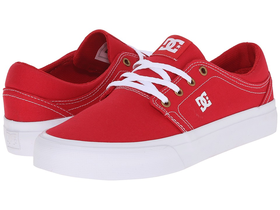 DC - Trase TX (Red/White) Skate Shoes