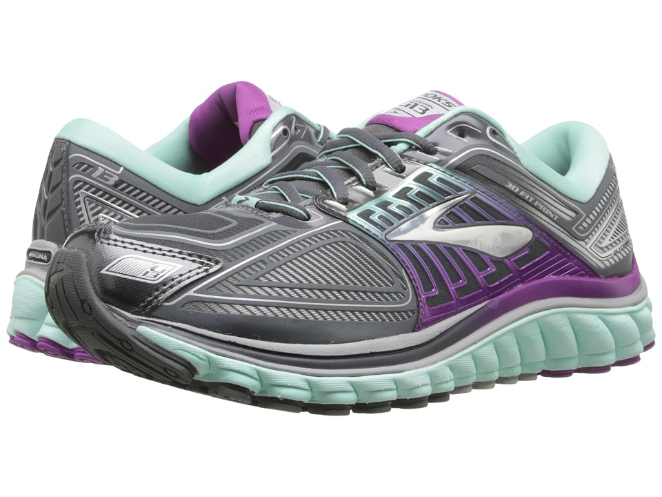 Brooks - Glycerin 13 (Anthracite/Ice Green/Hollyhock) Women's Running Shoes