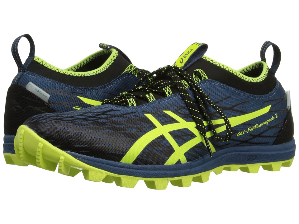 ASICS - GEL-FujiRunnegade 2 (Mediterranean/Flash Yellow/Black) Men's Running Shoes