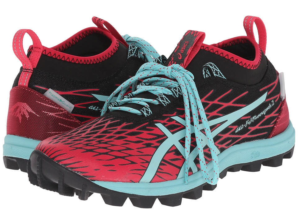 ASICS - GEL-FujiRunnegadetm 2 (Black/Pool Blue/Azalea) Women's Running Shoes