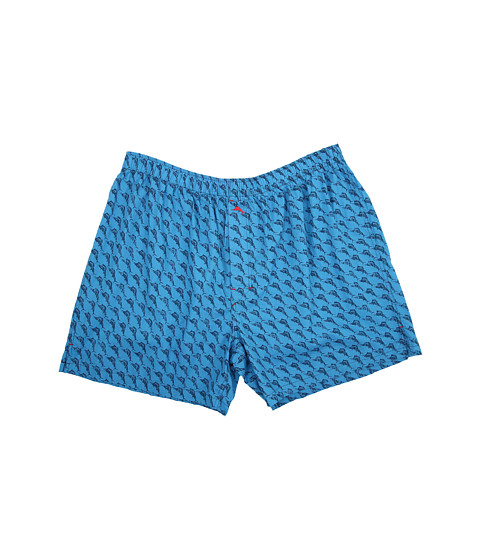 Tommy Bahama - Big Tall Marlin Madness Woven Boxers (Vibrant Blue Combo) Men's Underwear