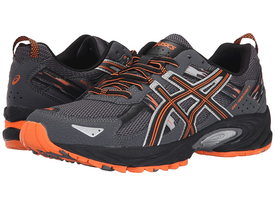 ASICS - Gel-Venture 5 (Carbon/Black/Hot Orange) Men's Running Shoes