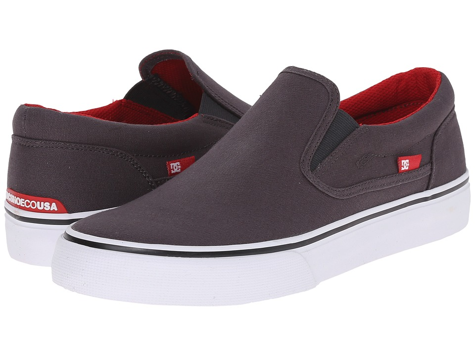 DC - Trase Slip-On TX (Grey/Black/Red) Skate Shoes