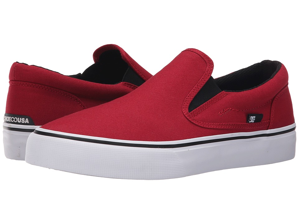 DC - Trase Slip-On TX (Red) Skate Shoes