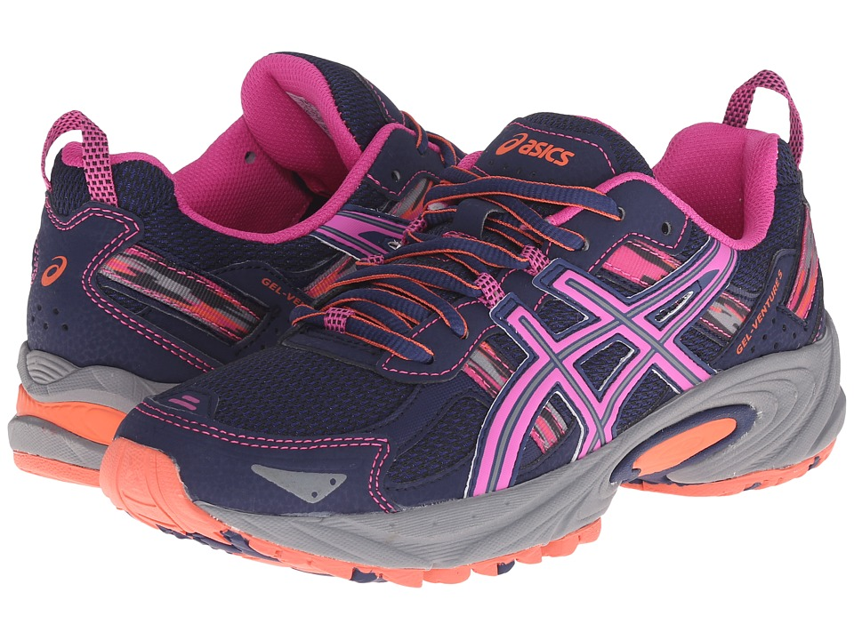 ASICS - Gel-Venture 5 (Indigo Blue/Pink glow/Living Coral) Women's Running Shoes