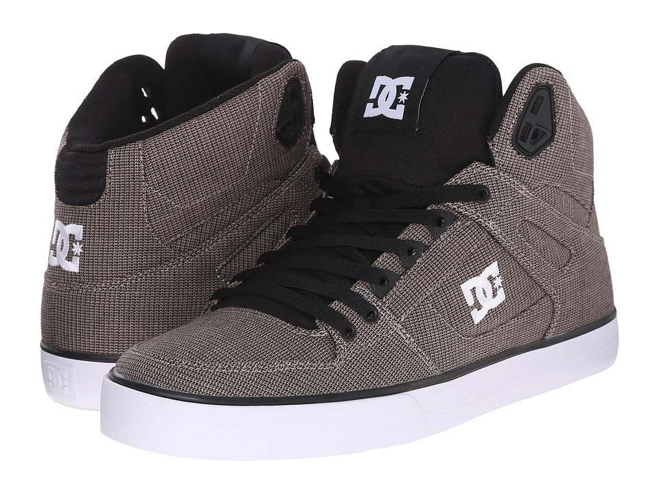 DC - Spartan High WC TX SE (Granite) Men's Skate Shoes