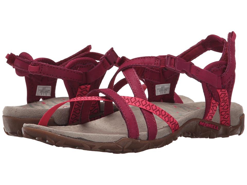Merrell - Terran Lattice II (Fuchsia) Women's Shoes