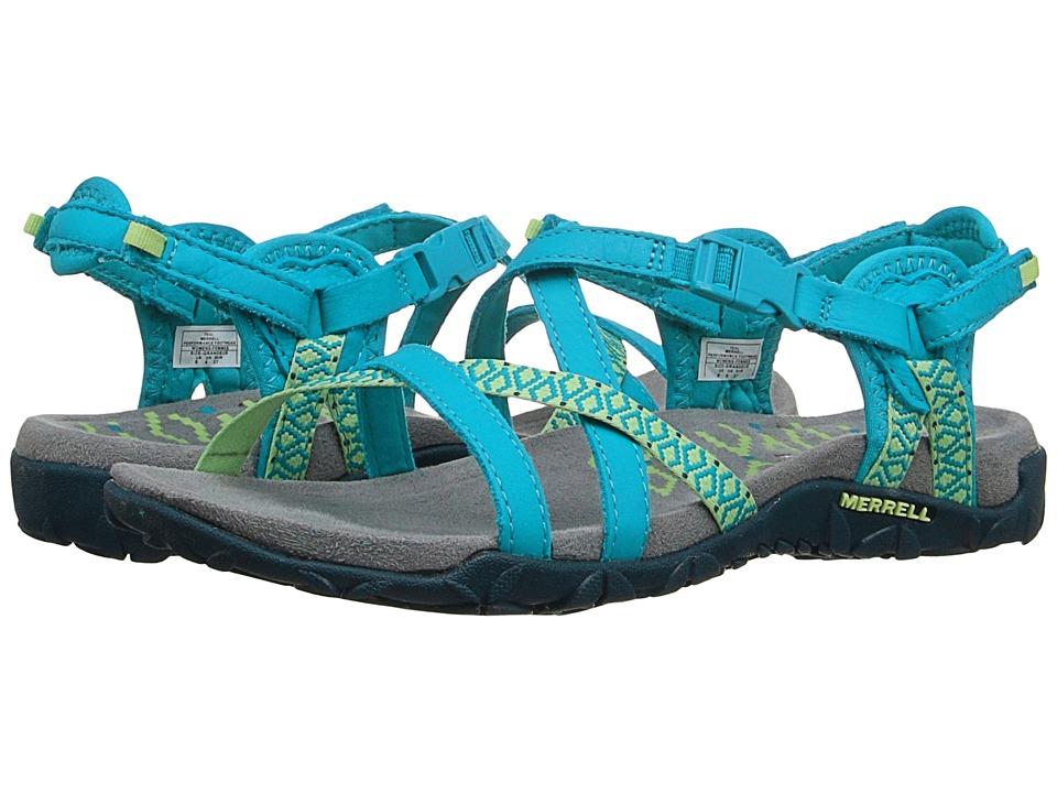 Merrell - Terran Lattice II (Teal) Women's Shoes