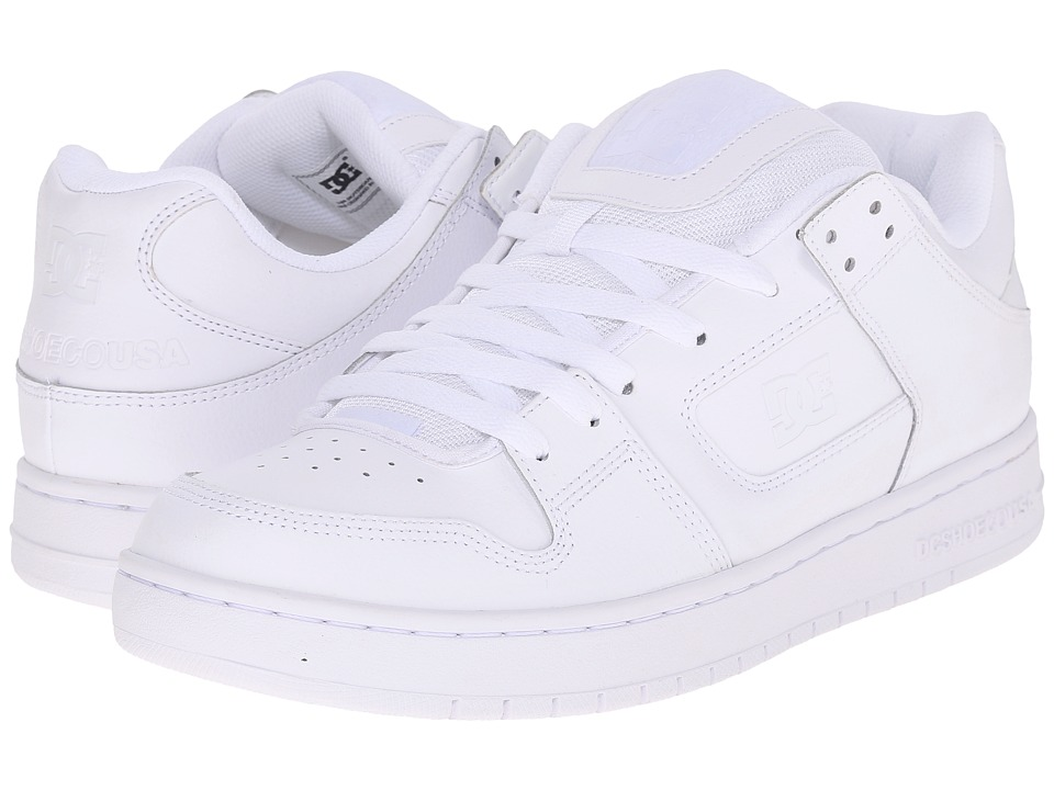 DC - Manteca (White/White/White) Men's Shoes