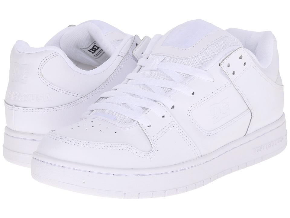 DC - Manteca (White/White/White) Men's Shoes