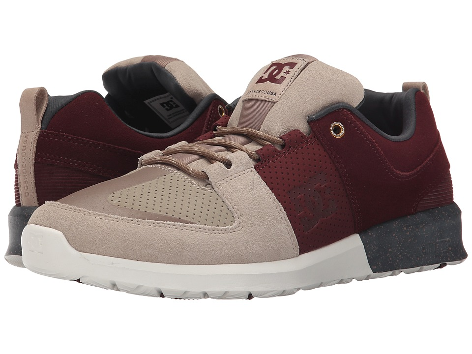DC - Lynx Lite SE (Burgundy/Tan) Skate Shoes