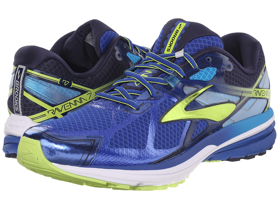 Brooks - Ravenna 7 (Surf The Web/Lime Punch/Peacoat Navy) Men's Running Shoes