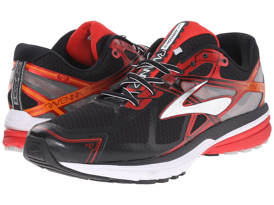 Brooks - Ravenna 7 (Black/High Risk Red/Silver) Men's Running Shoes