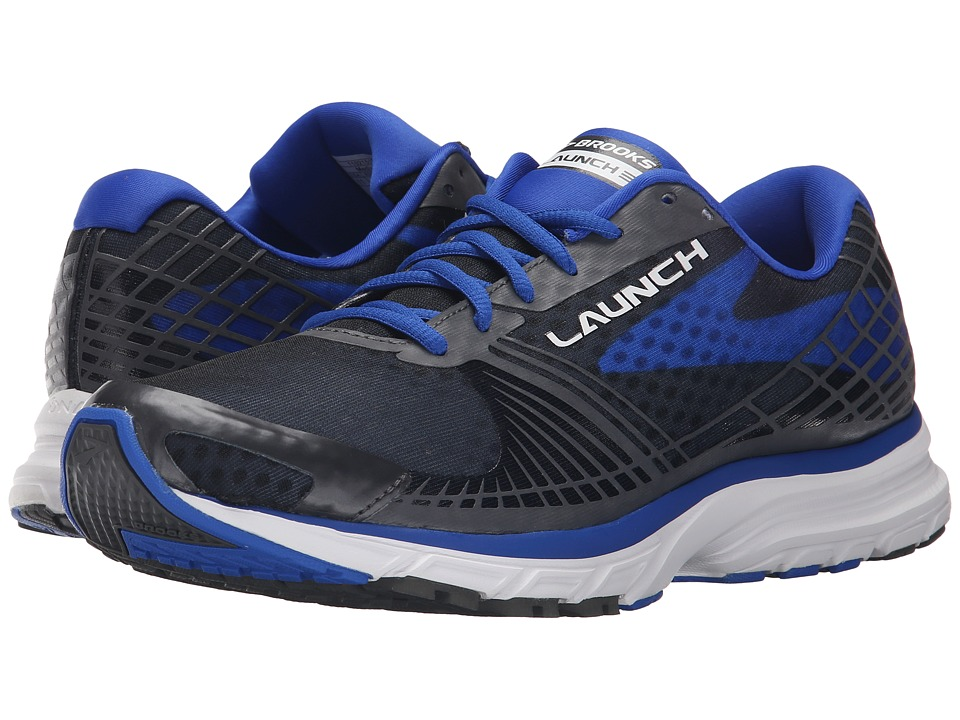 Brooks - Launch 3 (Anthracite/Electric Brooks Blue) Men's Running Shoes