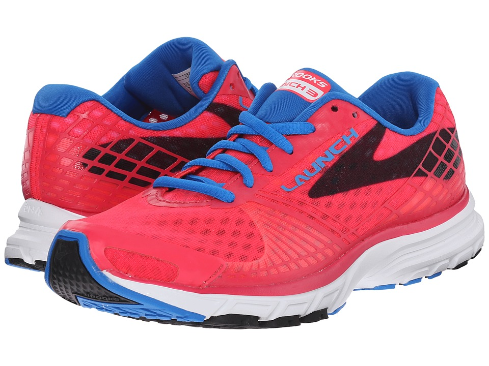 Brooks - Launch 3 (Myla Pink/Electric Blue Lemonade/Black) Women's Running Shoes