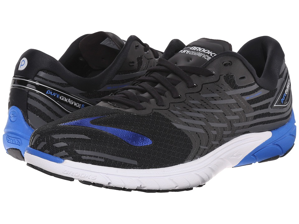 Brooks - PureCadence 5 (Black/Electric Brooks Blue/Anthracite) Men's Running Shoes