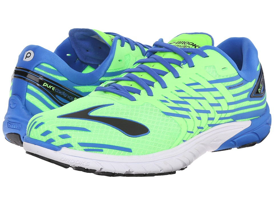 Brooks - PureCadence 5 (Green Gecko/Electric Brooks Blue/Black) Men's Running Shoes