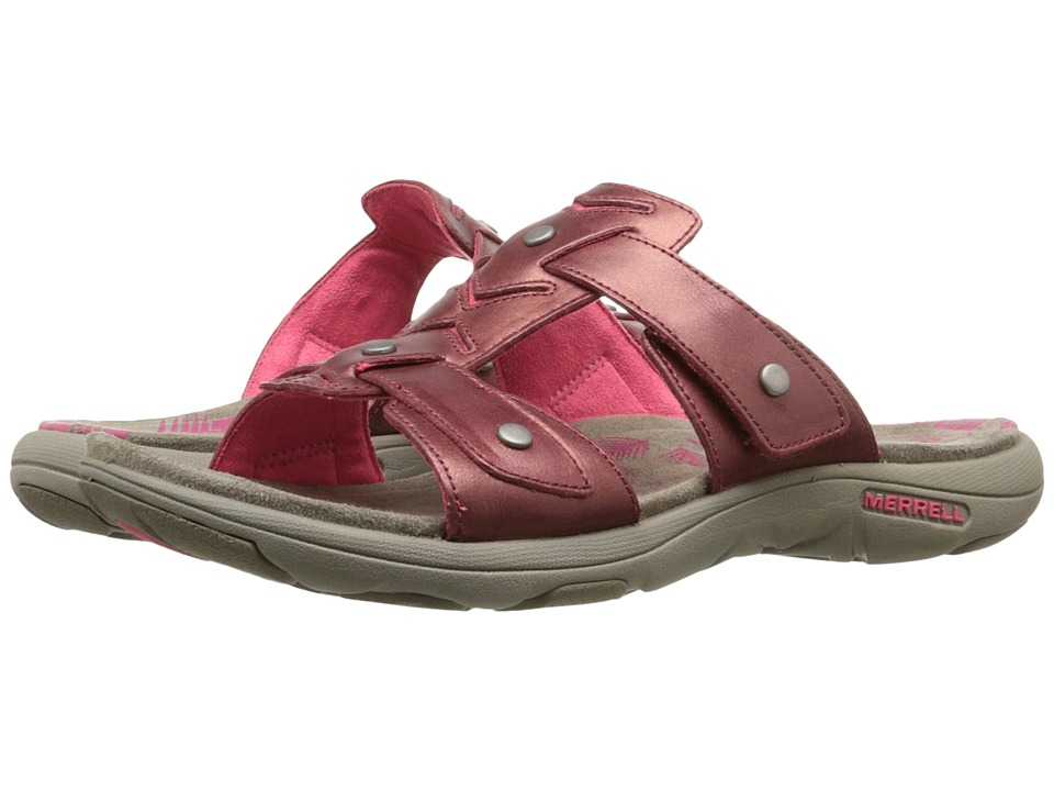 Merrell - Adhera Slide (Cranberry) Women's Shoes