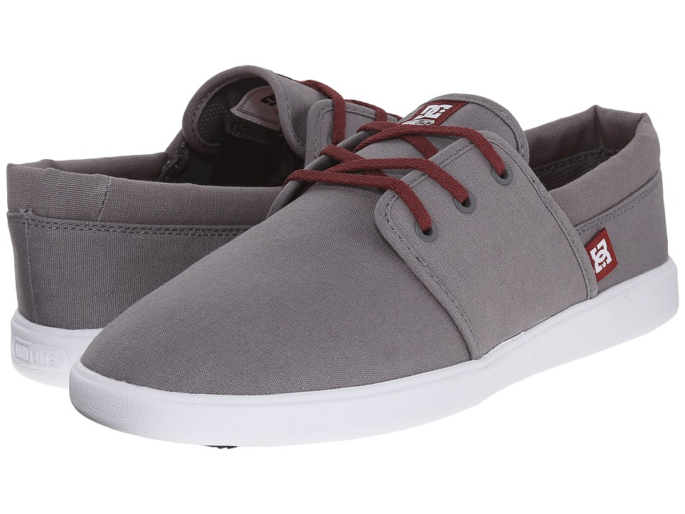 DC - Haven (Grey/Dark Red) Men's Shoes