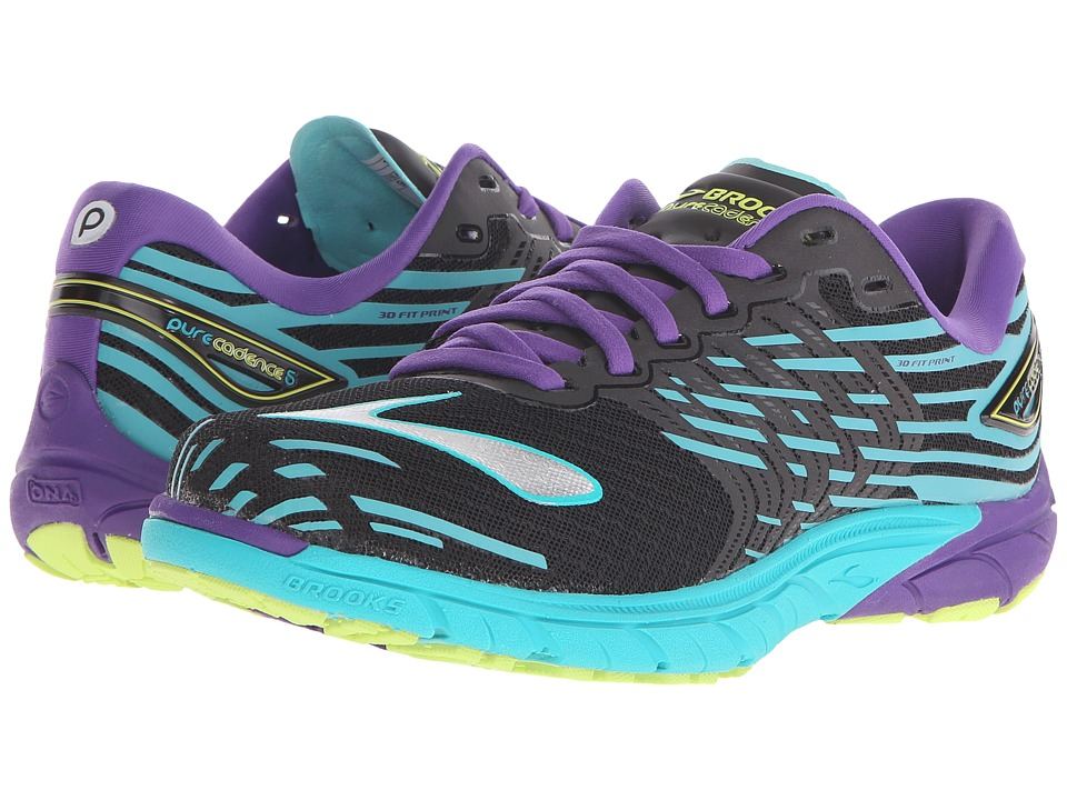 Brooks - PureCadence 5 (Black/Ceramic/Prism Violet) Women's Running Shoes