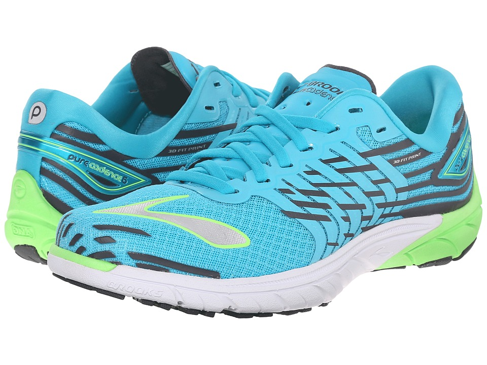 Brooks - PureCadence 5 (Scuba Blue/Green Gecko/Anthracite) Women's Running Shoes